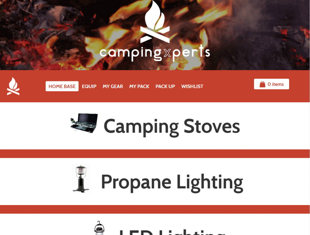 Camping Xperts - triXbe.com | Website Design