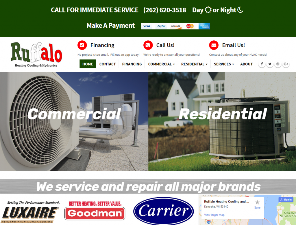 Ruffalo Heating Cooling and Hydronics - triXbe.com | Website Design