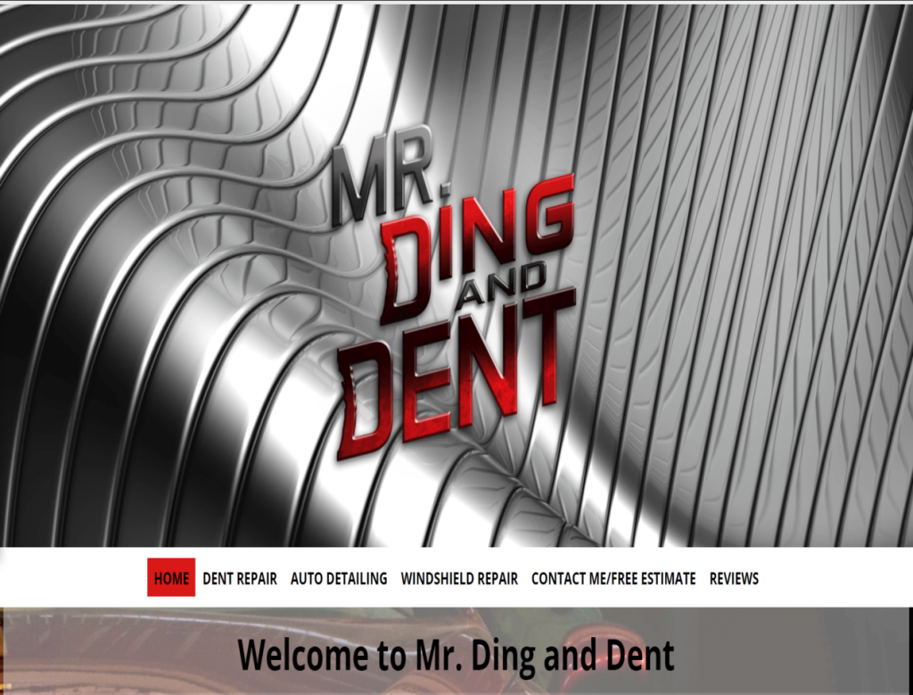 Mr. Ding and Dent - triXbe.com | Website Design