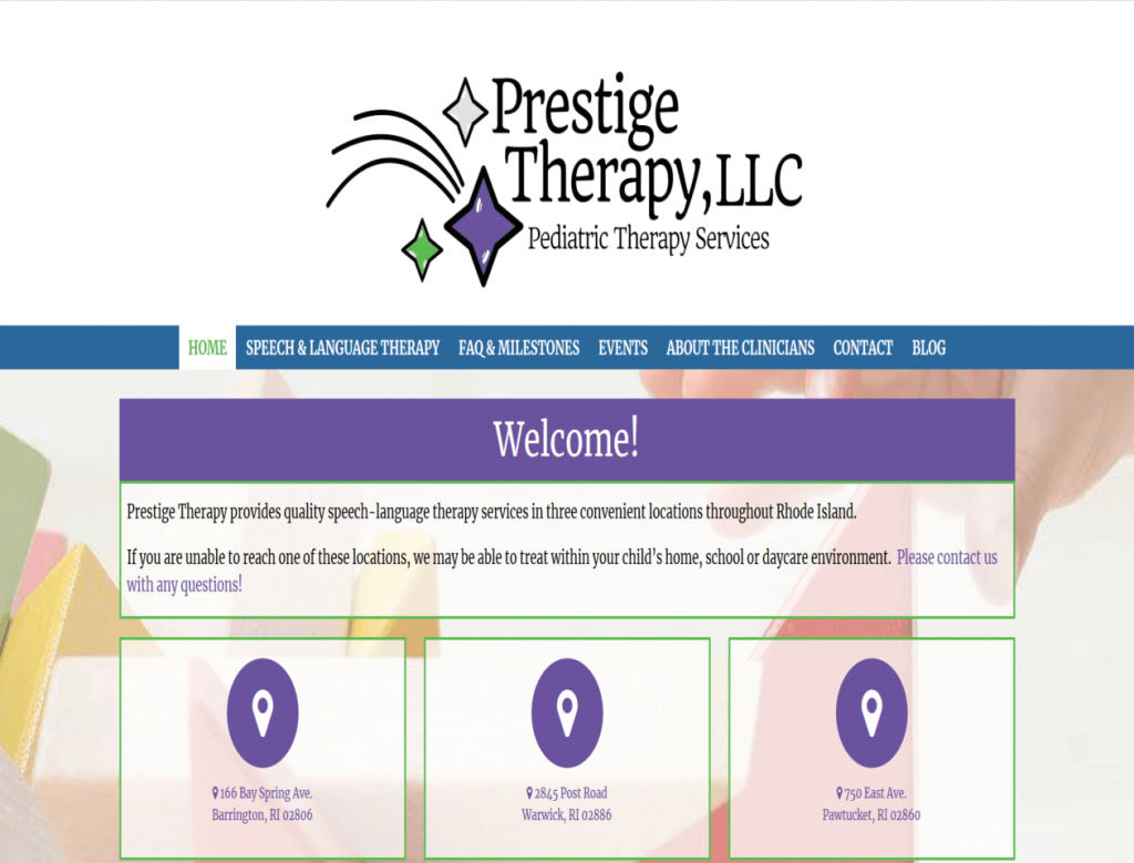 Prestige Therapy LLC - triXbe.com | Website Design