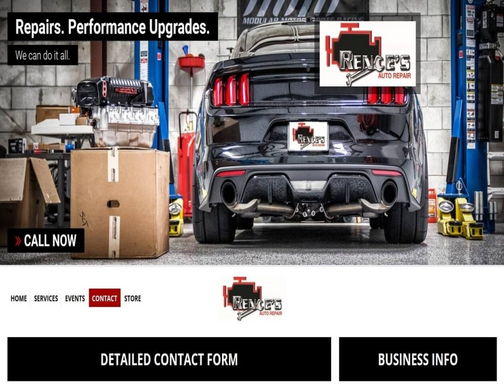 Rences Auto Repair - triXbe.com | Website Design